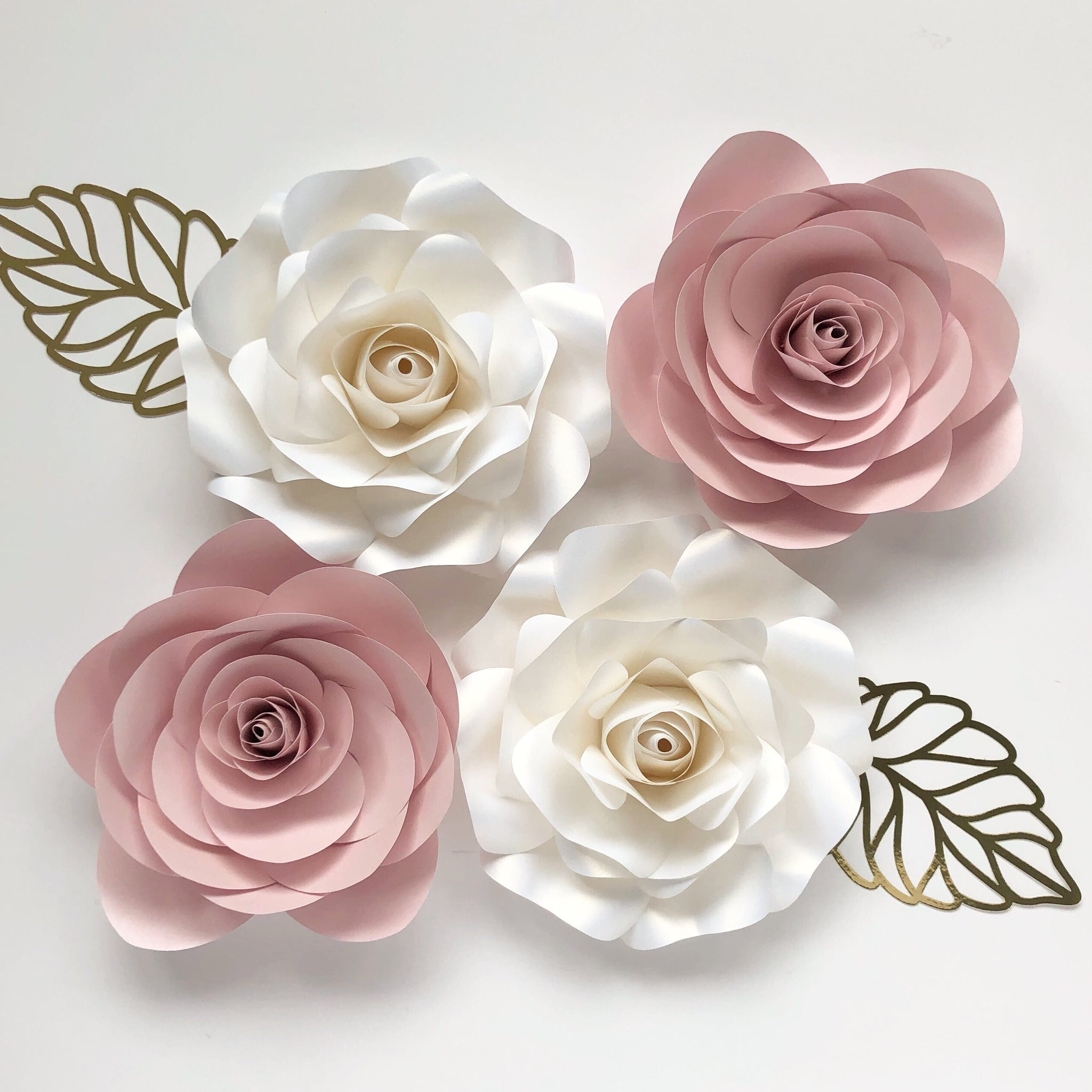Rosey Paper Flower Set