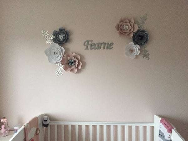 Fearne Rose and Flower Set - Paper flower wall decor