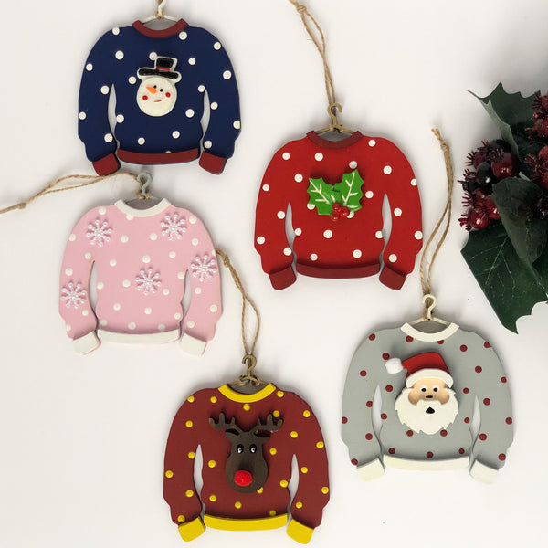 Christmas Jumper Tree Decoration (Can be personalised!)
