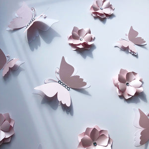 Mini flowers and Butterflies set