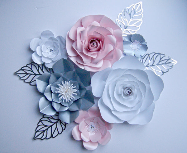 Pearly Paper Flower Set