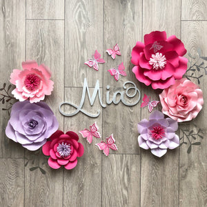 Mia Flower Set (Name ordered separately)