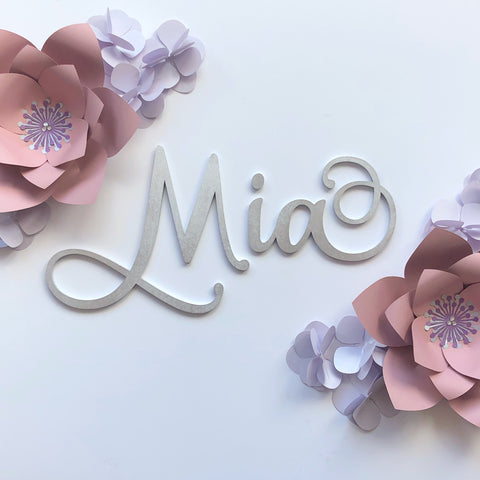 Wall Name MDF - Love Font (PER LETTER)