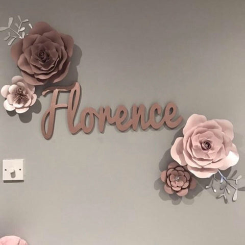 Florence Rose and Flower Paper Wall Decor (Various colours)