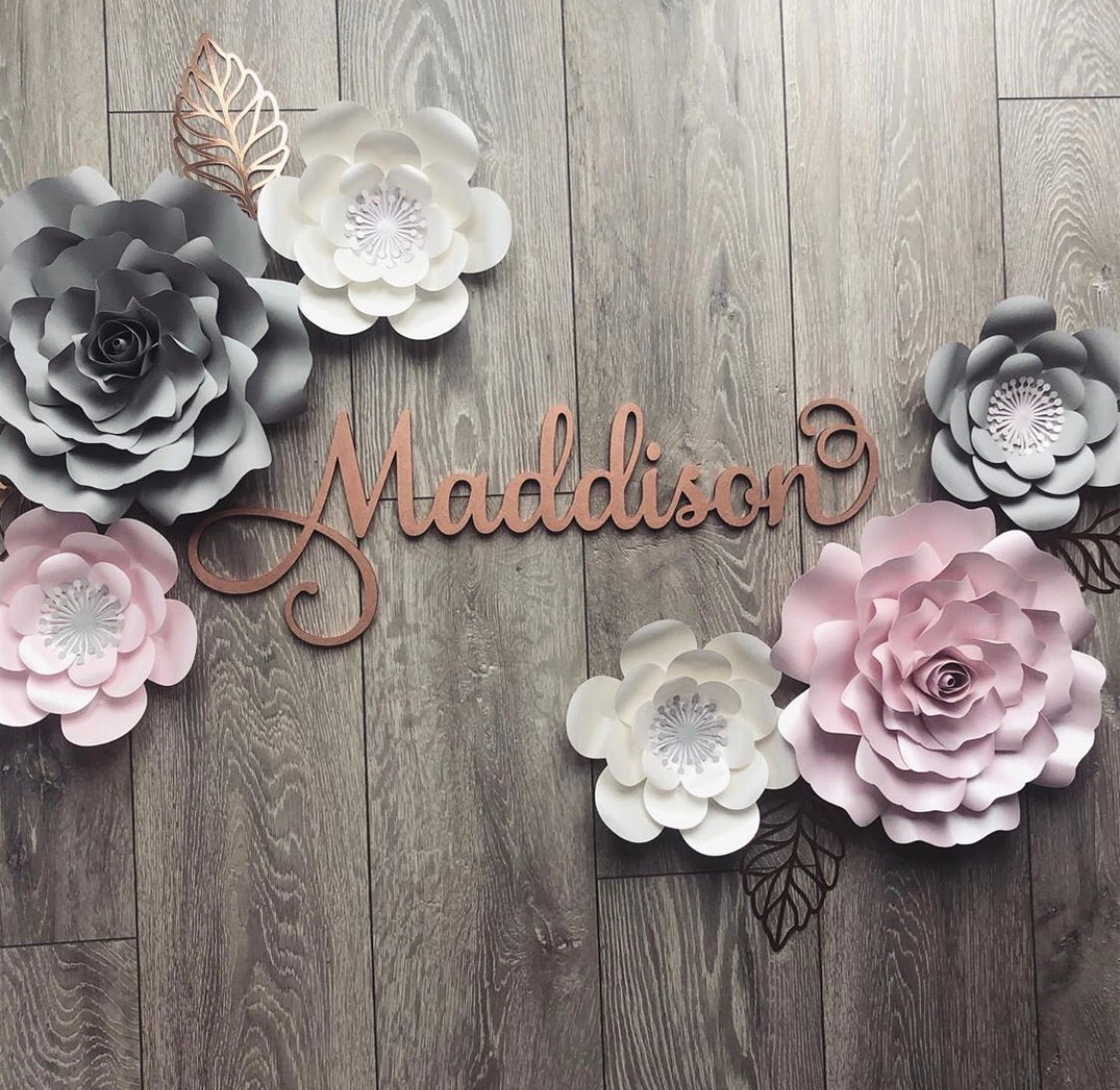 Maddison Flower and Rose Paper Flower Set