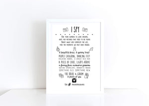 I Spy Table Decor Personalised Print