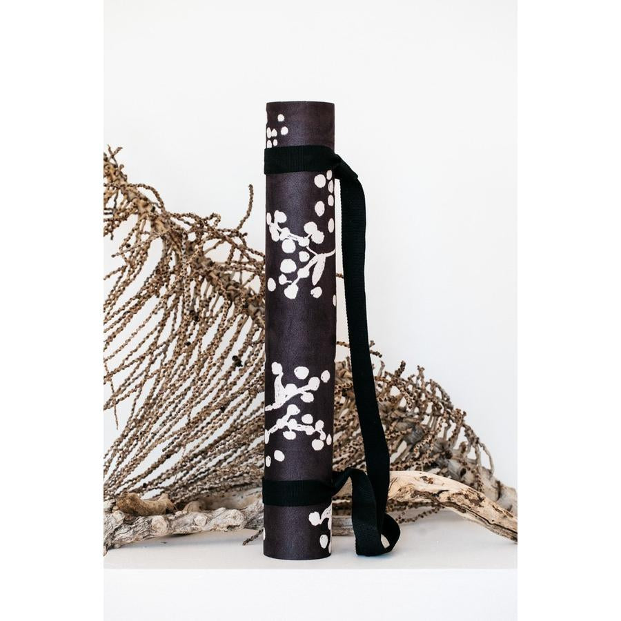 Yin Yoga Mat with Carry Strap - Black Watl