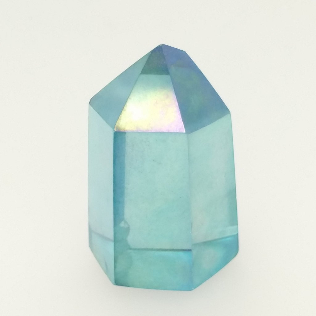 Aqua Aura Quartz Polished Crystal SMALL
