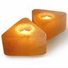 Orange Selenite Triangle Tea Light Candle Holder