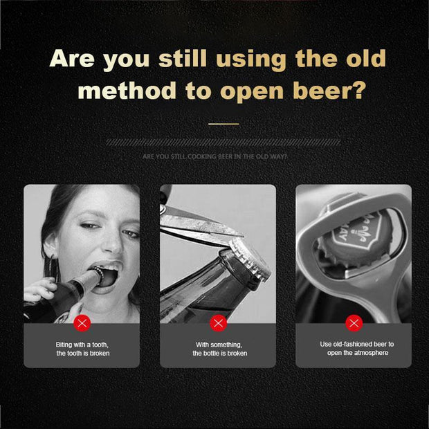 Automatic Stainless Steel Bottle Opener