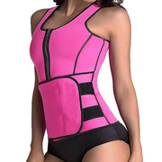 Conjoined vest sauna body-shaping waistband
