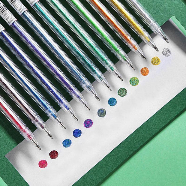 12 Colors Glitter Gel Pen Set