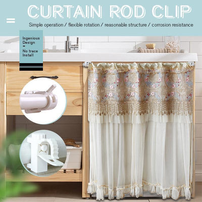 Curtain Rod Clip(2 pcs)