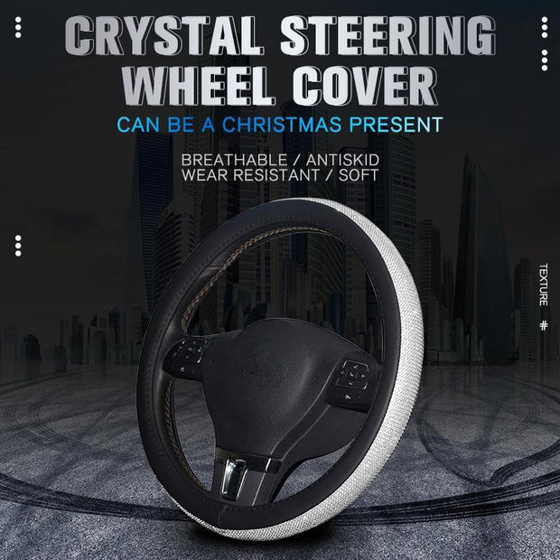 Flash Crystal Steering Wheel Cover
