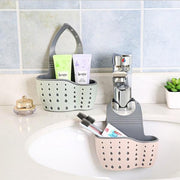Double Sink Shelf Soap Sponge Drain Holder