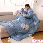 LAZYBED™ : Winter Lazy Quilt With Sleeves