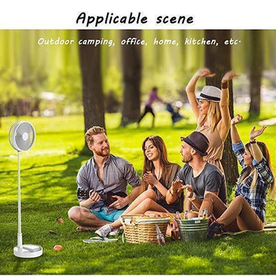 Telescopic Folding USB Charging Fan