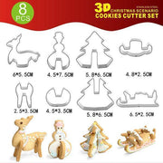 Christmas 3D Cookie Mold Set
