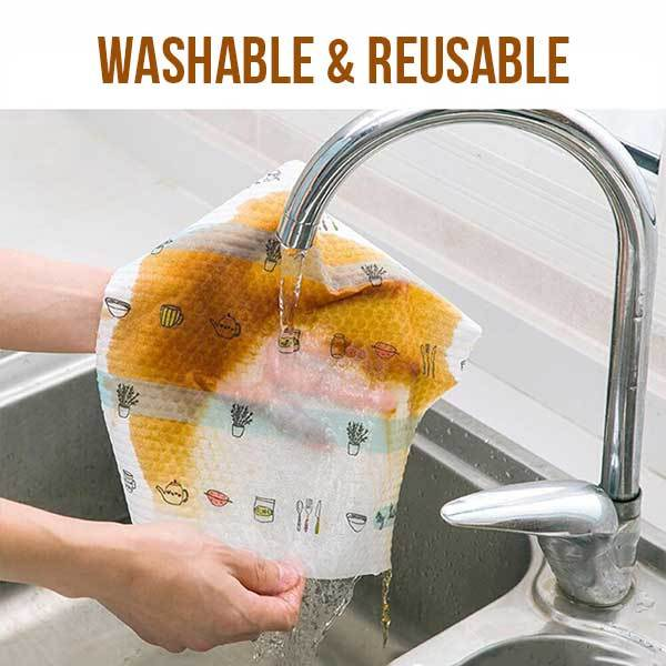CLERAG™: Reusable Cleaning Rags (Roll of 50PCS)
