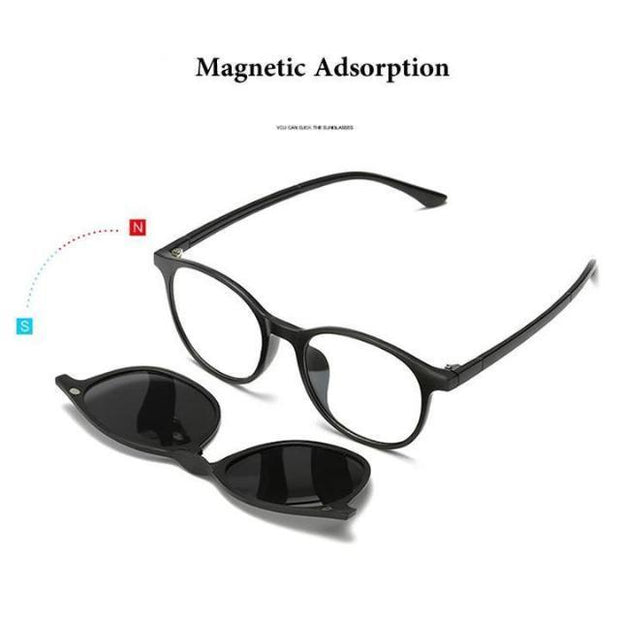 5 in 1 Polarized Magnetic Clip on Sunglasses