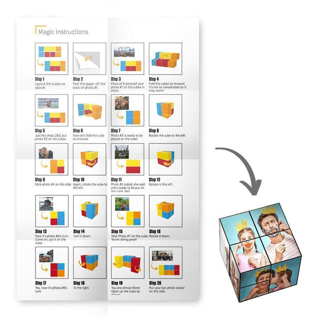 Custom Multi Photo Folding Magic DIY Rubik's Cube