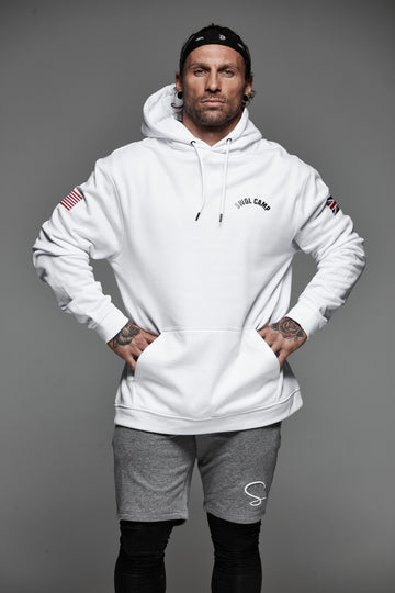 Swol Camp Poly Hoodie Ice White