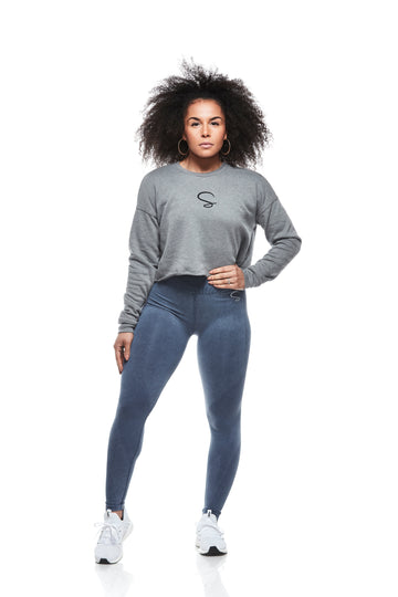 Denim Style seamless Leggings Washout Blue