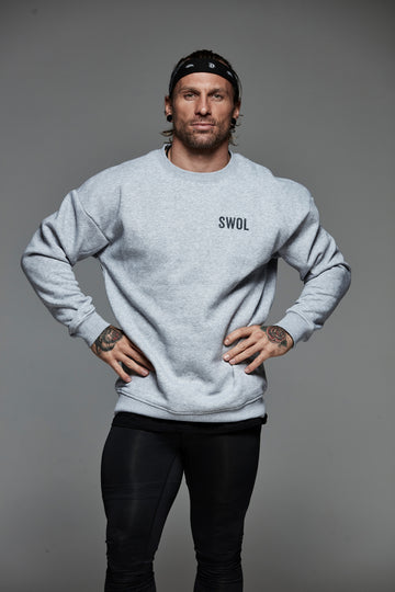 The Yard Crewneck sweatshirt Fog Grey