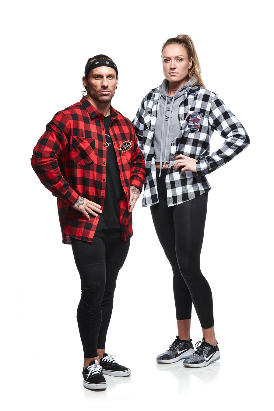 SWOL Legends Flannel Blood Red & Ice White