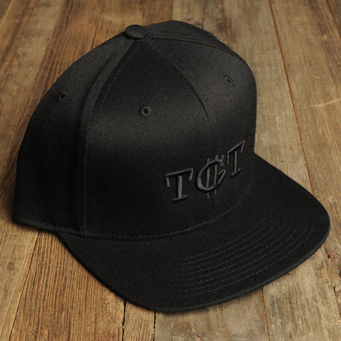 Black on Black TGT Snapback Hat - TGT Store