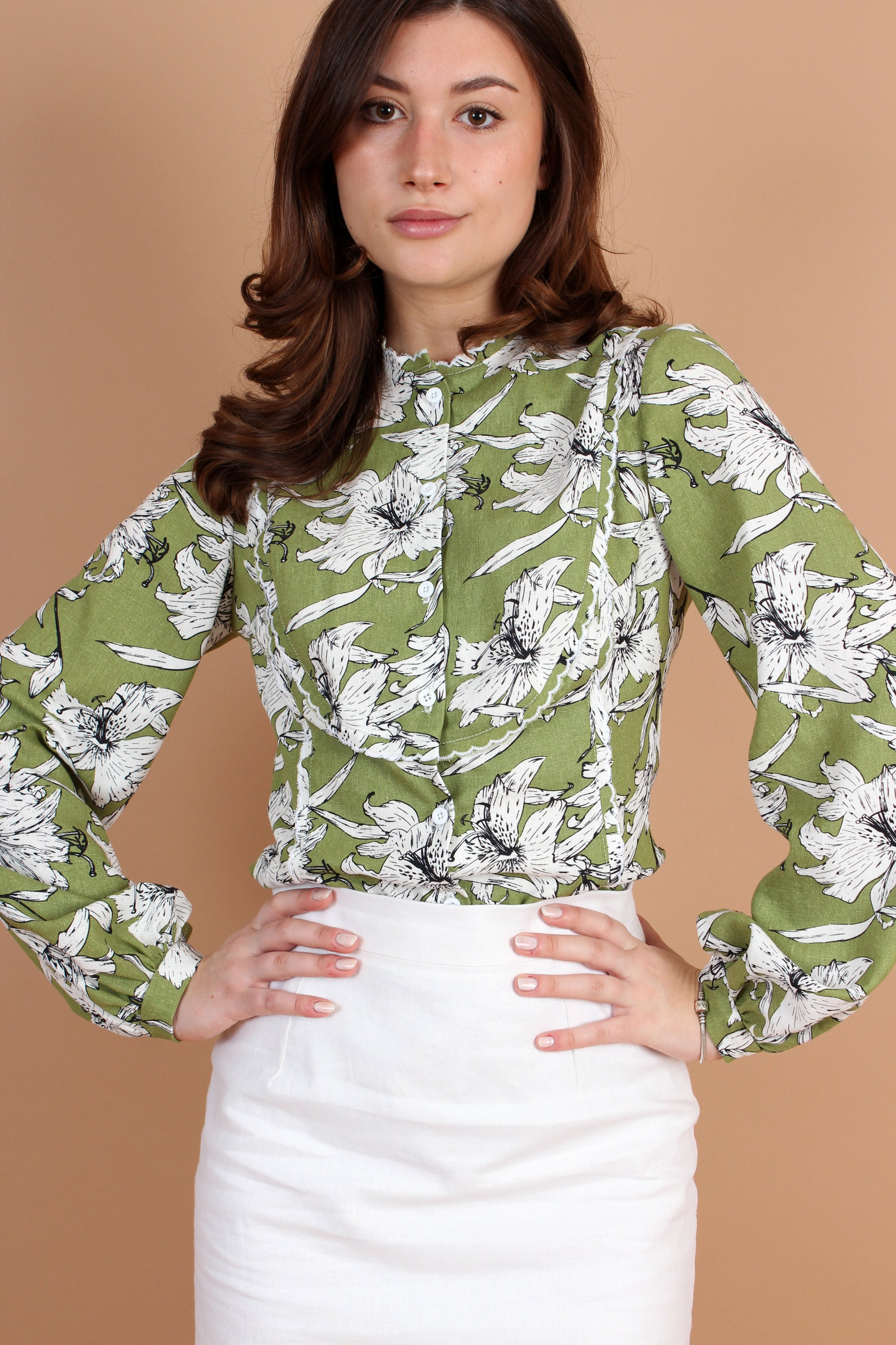 Full Sleeve Bib Blouse