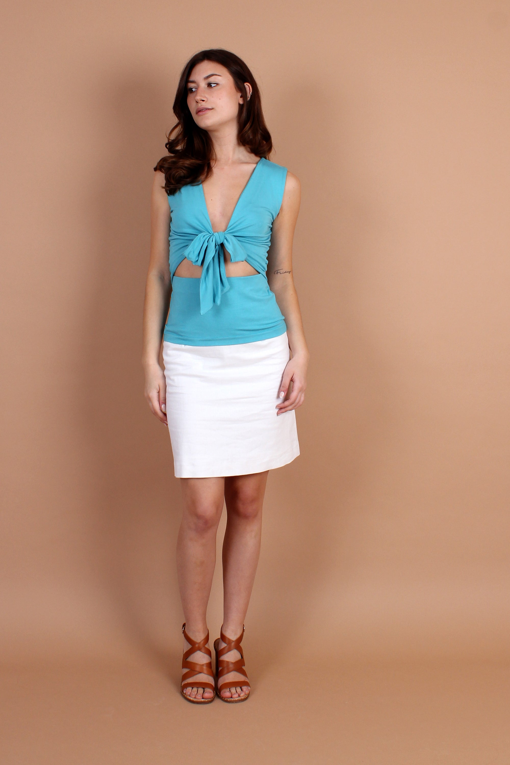 Bamboo Bow Front Top