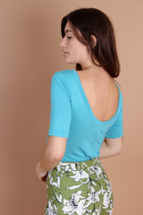 Bamboo Scoop Back Top