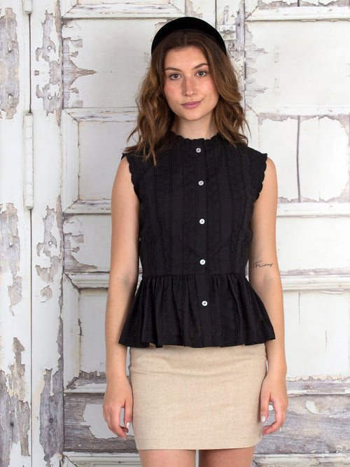 Abby Cotton Eyelet Blouse
