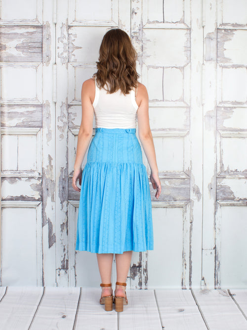 Avery Cotton Eyelet Midi Skirt