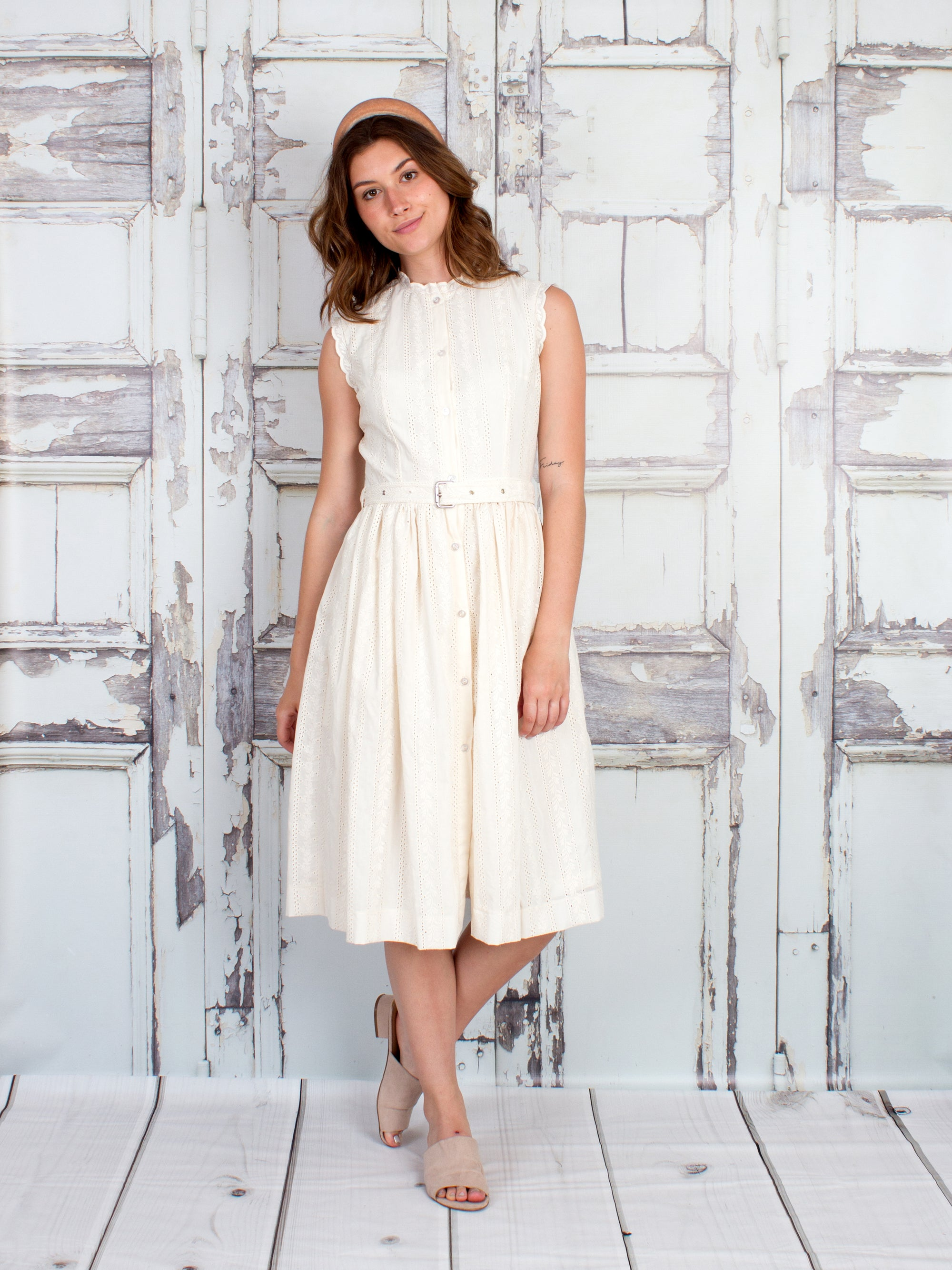 Abby Cotton Eyelet Dress