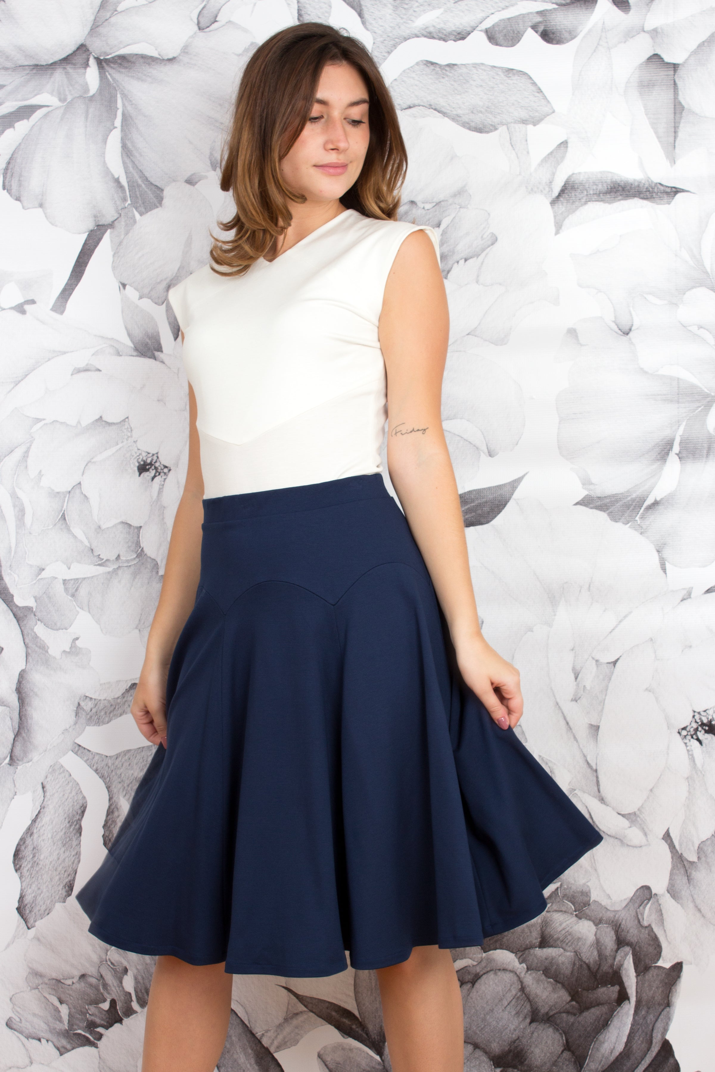 Scalloped Yoke Skirt