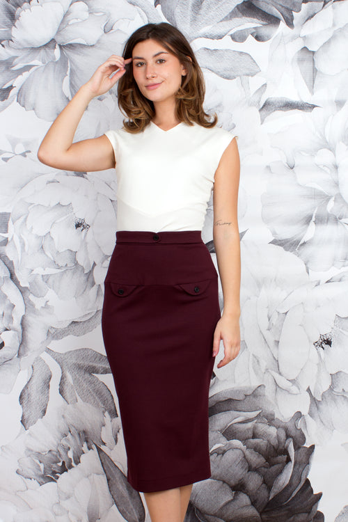 Tapered Midi Skirt