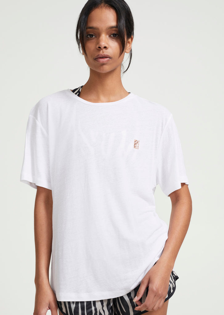 Cross Over Tee | White