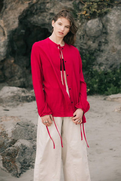 Dream Shirt | Fuchsia Twill