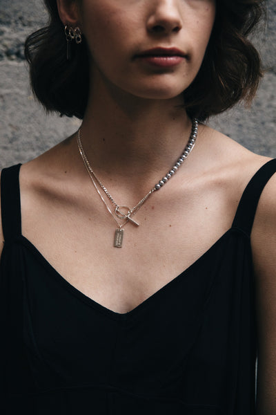 Heritage Tag Necklace | Sterling Silver