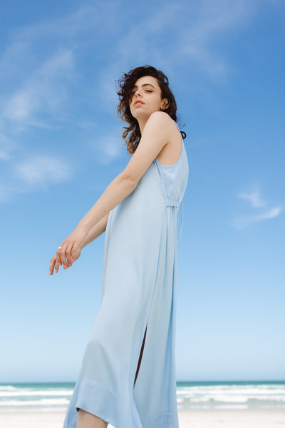 Fade Dress | Sky Blue Twill