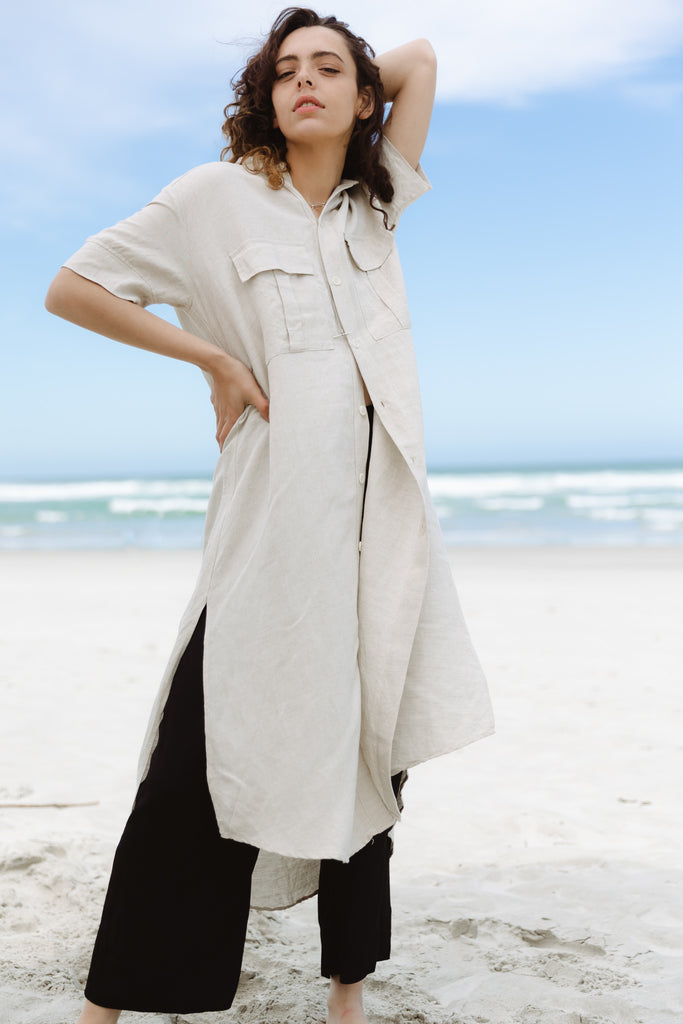 Stage Shirt Dress | Sand