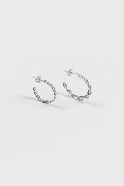 DNA Hoops | Sterling Silver