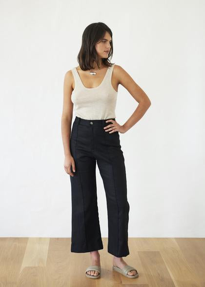 Crop Trouser | Black