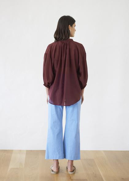 Crop Trouser | Light Blue