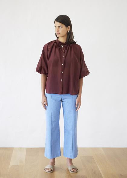 Crop Trouser | Light Blue - Company Store