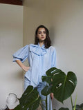 Feels Familiar Bow Blouse | Cornflower Blue