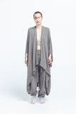 Shin Shapes Smoking Jacket | Grey