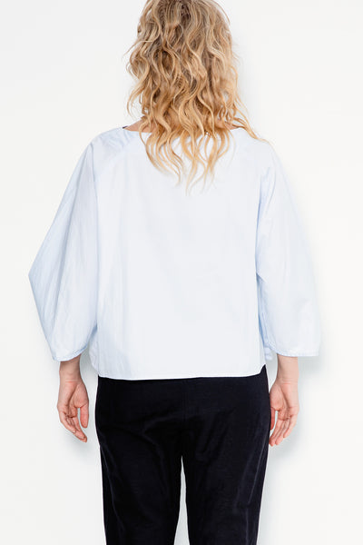 Star Tee | Baby Blue Shirting